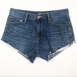 Gap cut off denim jean shorts size 10